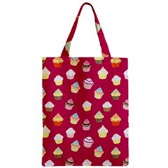 Cupcakes Pattern Zipper Classic Tote Bag by Valentinaart
