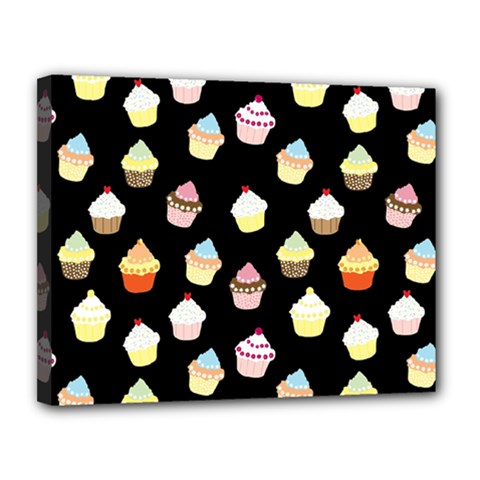 Cupcakes Pattern Canvas 14  X 11  by Valentinaart