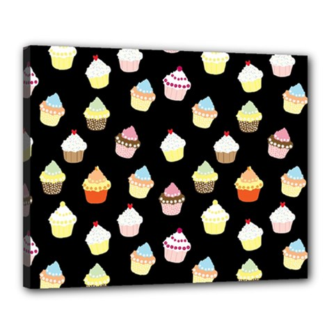 Cupcakes Pattern Canvas 20  X 16  by Valentinaart