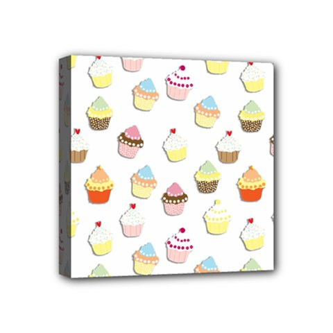 Cupcakes Pattern Mini Canvas 4  X 4  by Valentinaart
