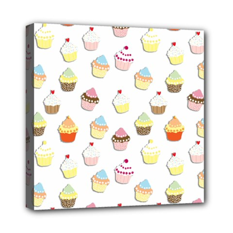 Cupcakes Pattern Mini Canvas 8  X 8  by Valentinaart