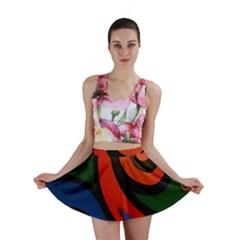 Simple Batik Patterns Mini Skirt by Onesevenart
