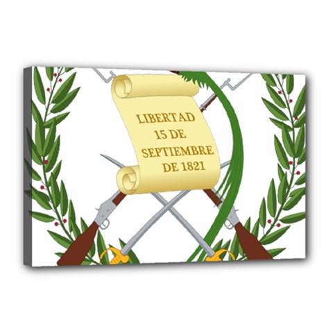 National Emblem Of Guatemala  Canvas 18  X 12  by abbeyz71