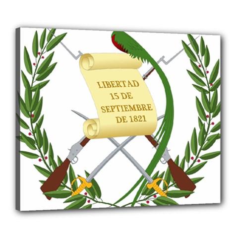 National Emblem Of Guatemala Canvas 24  X 20  by abbeyz71