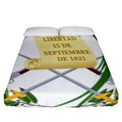 National Emblem Of Guatemala Fitted Sheet (queen Size) by abbeyz71