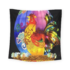 Chinese Zodiac Signs Square Tapestry (small) by Onesevenart
