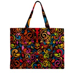 Art Traditional Pattern Zipper Mini Tote Bag by Onesevenart