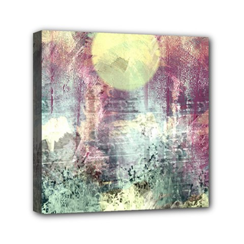 Frosty Pale Moon Mini Canvas 6  X 6  by theunrulyartist