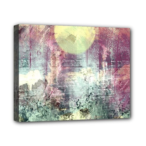 Frosty Pale Moon Canvas 10  X 8  by theunrulyartist