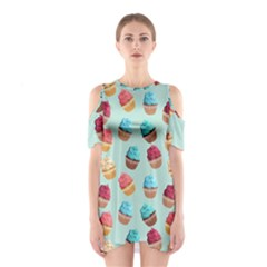 Cup Cakes Party Shoulder Cutout One Piece by tarastyle