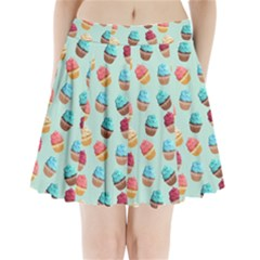 Cup Cakes Party Pleated Mini Skirt by tarastyle