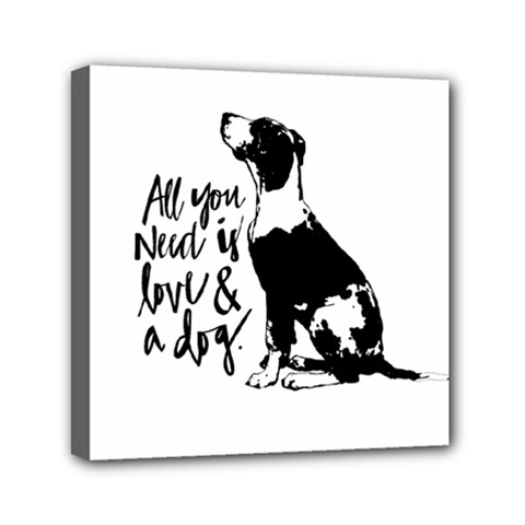 Dog Person Mini Canvas 6  X 6  by Valentinaart