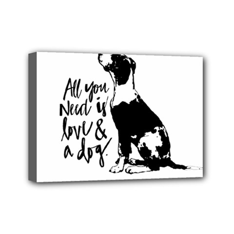 Dog Person Mini Canvas 7  X 5  by Valentinaart