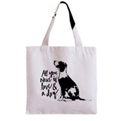 Dog Person Grocery Tote Bag by Valentinaart