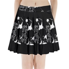 Dog Person Pleated Mini Skirt by Valentinaart