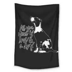 Dog Person Large Tapestry by Valentinaart