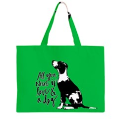 Dog person Large Tote Bag by Valentinaart