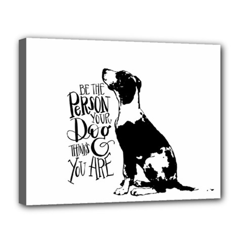 Dog Person Canvas 14  X 11  by Valentinaart