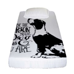Dog Person Fitted Sheet (single Size) by Valentinaart