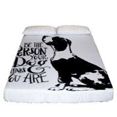 Dog Person Fitted Sheet (king Size) by Valentinaart