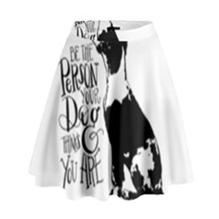 Dog Person High Waist Skirt by Valentinaart