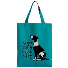 Dog Person Zipper Classic Tote Bag by Valentinaart