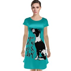 Dog Person Cap Sleeve Nightdress by Valentinaart