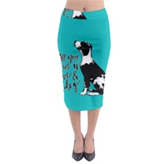Dog Person Midi Pencil Skirt by Valentinaart