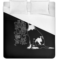 Dog Person Duvet Cover (king Size) by Valentinaart