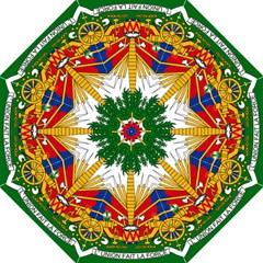 Coat Of Arms Of Haiti Folding Umbrellas by abbeyz71