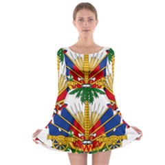 Coat Of Arms Of Haiti Long Sleeve Skater Dress by abbeyz71