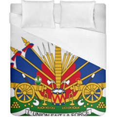 Coat Of Arms Of Haiti Duvet Cover (california King Size) by abbeyz71