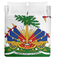 Coat Of Arms Of Haiti Duvet Cover Double Side (queen Size) by abbeyz71
