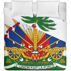 Coat Of Arms Of Haiti Duvet Cover Double Side (king Size) by abbeyz71
