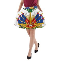Coat Of Arms Of Haiti A Line Pocket Skirt by abbeyz71