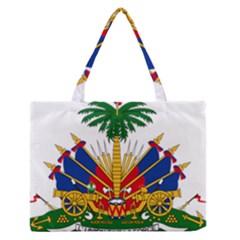 Coat Of Arms Of Haiti Medium Zipper Tote Bag by abbeyz71