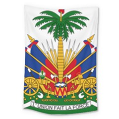 Coat Of Arms Of Haiti Large Tapestry by abbeyz71