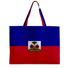 Flag Of Haiti  Zipper Mini Tote Bag by abbeyz71