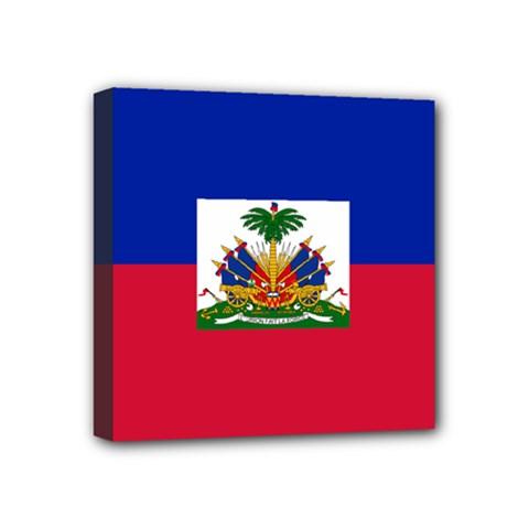 Flag Of Haiti Mini Canvas 4  X 4  by abbeyz71