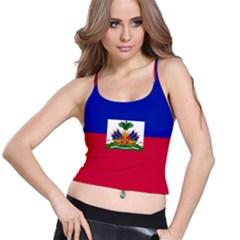 Flag Of Haiti Spaghetti Strap Bra Top by abbeyz71