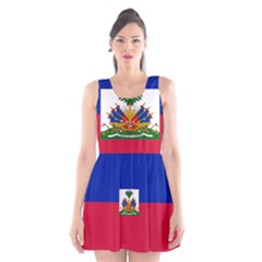 Flag Of Haiti Scoop Neck Skater Dress by abbeyz71