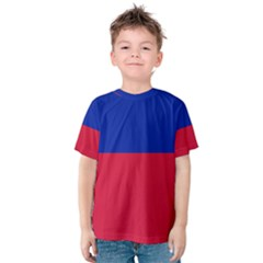 Civil Flag Of Haiti (without Coat Of Arms) Kids  Cotton Tee by abbeyz71