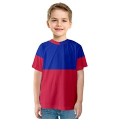 Civil Flag Of Haiti (without Coat Of Arms) Kids  Sport Mesh Tee by abbeyz71