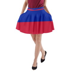 Civil Flag Of Haiti (without Coat Of Arms) A Line Pocket Skirt by abbeyz71