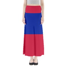 Civil Flag Of Haiti (without Coat Of Arms) Maxi Skirts by abbeyz71