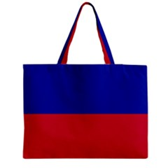 Civil Flag Of Haiti (without Coat Of Arms) Medium Zipper Tote Bag by abbeyz71