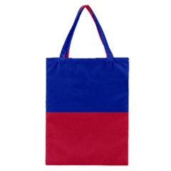 Civil Flag Of Haiti (without Coat Of Arms) Classic Tote Bag by abbeyz71