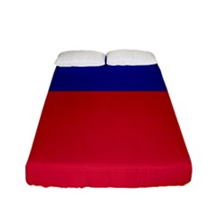 Civil Flag Of Haiti (without Coat Of Arms) Fitted Sheet (full/ Double Size) by abbeyz71