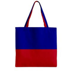 Civil Flag Of Haiti (without Coat Of Arms) Zipper Grocery Tote Bag by abbeyz71