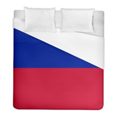 Civil Flag Of Haiti (without Coat Of Arms) Duvet Cover (full/ Double Size) by abbeyz71